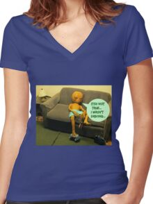That's Why You Crashed in New Mexico Women's Fitted V-Neck T-Shirt