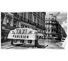 Parisien Taxi, Paris, France Poster
