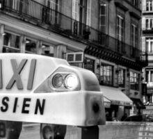 Parisien Taxi, Paris, France Sticker