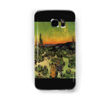 'Landscape with Couple Walking and Crescent Moon' by Vincent Van Gogh (Reproduction) Samsung Galaxy Case/Skin