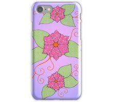 Flowers illustration #4 iPhone Case/Skin