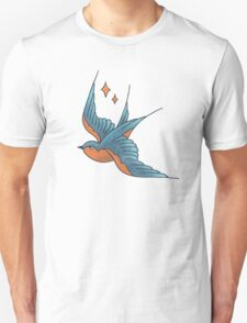 Swallow Tattoo (colour)  Unisex T-Shirt