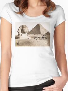Vintage Photographs and prints of Egypt Women's Fitted Scoop T-Shirt