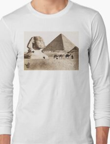 Vintage Photographs and prints of Egypt Long Sleeve T-Shirt