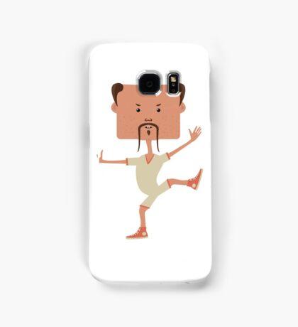 Funny karate man Samsung Galaxy Case/Skin