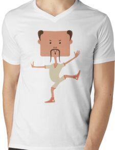 Funny karate man Mens V-Neck T-Shirt