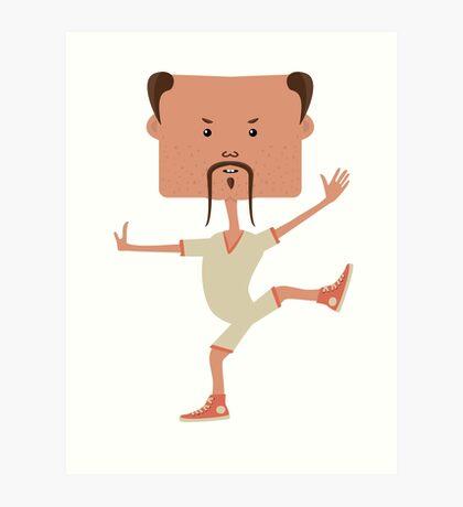 Funny karate man Art Print