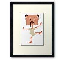 Funny karate man Framed Print