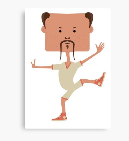 Funny karate man Canvas Print