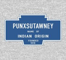 Punxsutawney (Groundhog Day), Entrance Sign, Pennsylvania, USA One Piece - Long Sleeve