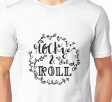 rocky and roll hand lettering Unisex T-Shirt