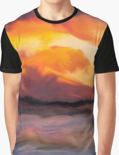 Sunset in the mountains Graphic T-Shirt