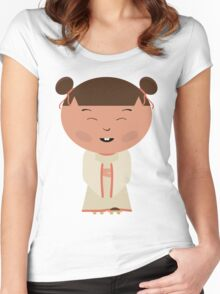 Funny japanese girl Women's Fitted Scoop T-Shirt