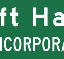 Left Hand, Road Sign, WV Sticker