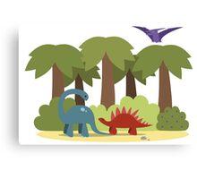 Dino trouble Canvas Print