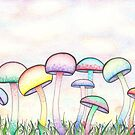 Swirly Mushrooms by Megan Stone