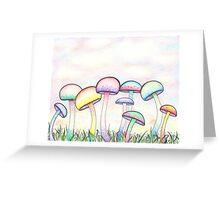 Swirly Mushrooms Greeting Card