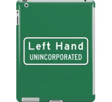 Left Hand, Road Sign, WV iPad Case/Skin