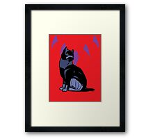 Black-Kitty (panther) Framed Print
