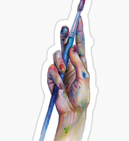 Painter's Hand Sticker