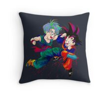 Trunks vs Goten - watercolor Throw Pillow