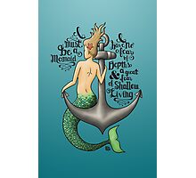 Mermaid & Anchor Photographic Print
