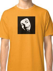 V for vendetta mask Classic T-Shirt