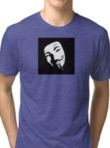 V for vendetta mask Tri-blend T-Shirt