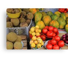 Exotic Fruits and Vegetables Canvas Print