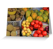 Exotic Fruits and Vegetables Greeting Card