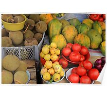 Exotic Fruits and Vegetables Poster
