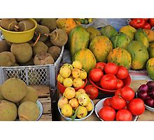 Exotic Fruits and Vegetables Photographic Print