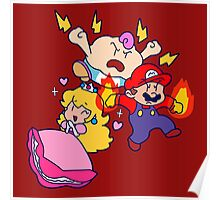 Mallow Peach and Mario Poster
