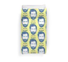 Beards are Hot Duvet Cover