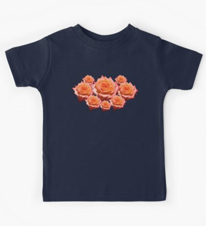 Orange Rose with Droplets Kids Tee