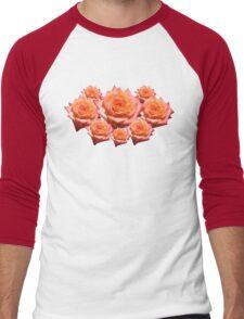 Orange Rose with Droplets Men's Baseball ¾ T-Shirt