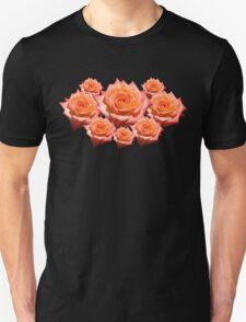 Orange Rose with Droplets Unisex T-Shirt
