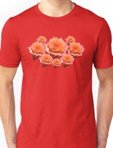 Orange Rose with Droplets Unisex T-Shirt