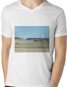 Prairie Buttes with Lone Tree Mens V-Neck T-Shirt