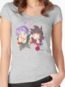 Trunks and Goten - watercolor Women's Fitted Scoop T-Shirt
