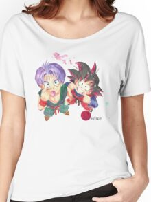 Trunks and Goten - watercolor Women's Relaxed Fit T-Shirt