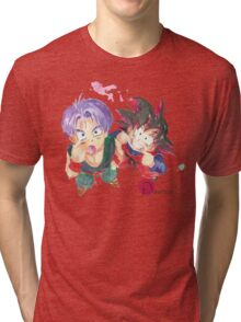 Trunks and Goten - watercolor Tri-blend T-Shirt