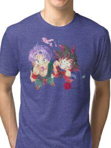 Trunks and Goten - watercolor Tri-blend T-Shirt