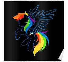 Rainbow Dash Abstract 2 Poster