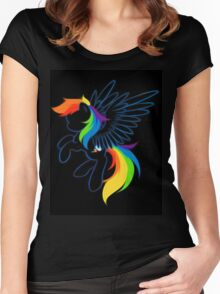Rainbow Dash Abstract 2 Women's Fitted Scoop T-Shirt