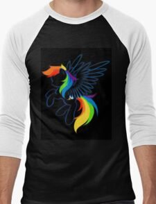Rainbow Dash Abstract 2 Men's Baseball ¾ T-Shirt