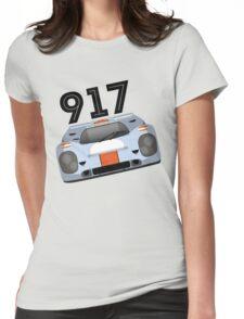 Porsche 917 Gulf Racing Womens Fitted T-Shirt