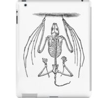 Vintage Bat Skeleton Illustration Retro 1800s Black and White Image iPad Case/Skin