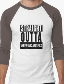 Straight Outta Weeping Angels Men's Baseball ¾ T-Shirt