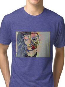 Anatomy Abstract Tri-blend T-Shirt